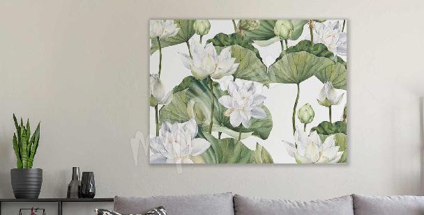Bild Aquarell Lotusblume