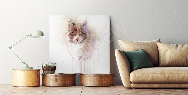 Bild mit einer roten Katze
