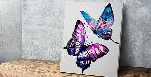 Bild Aquarell mit Schmetterlingen