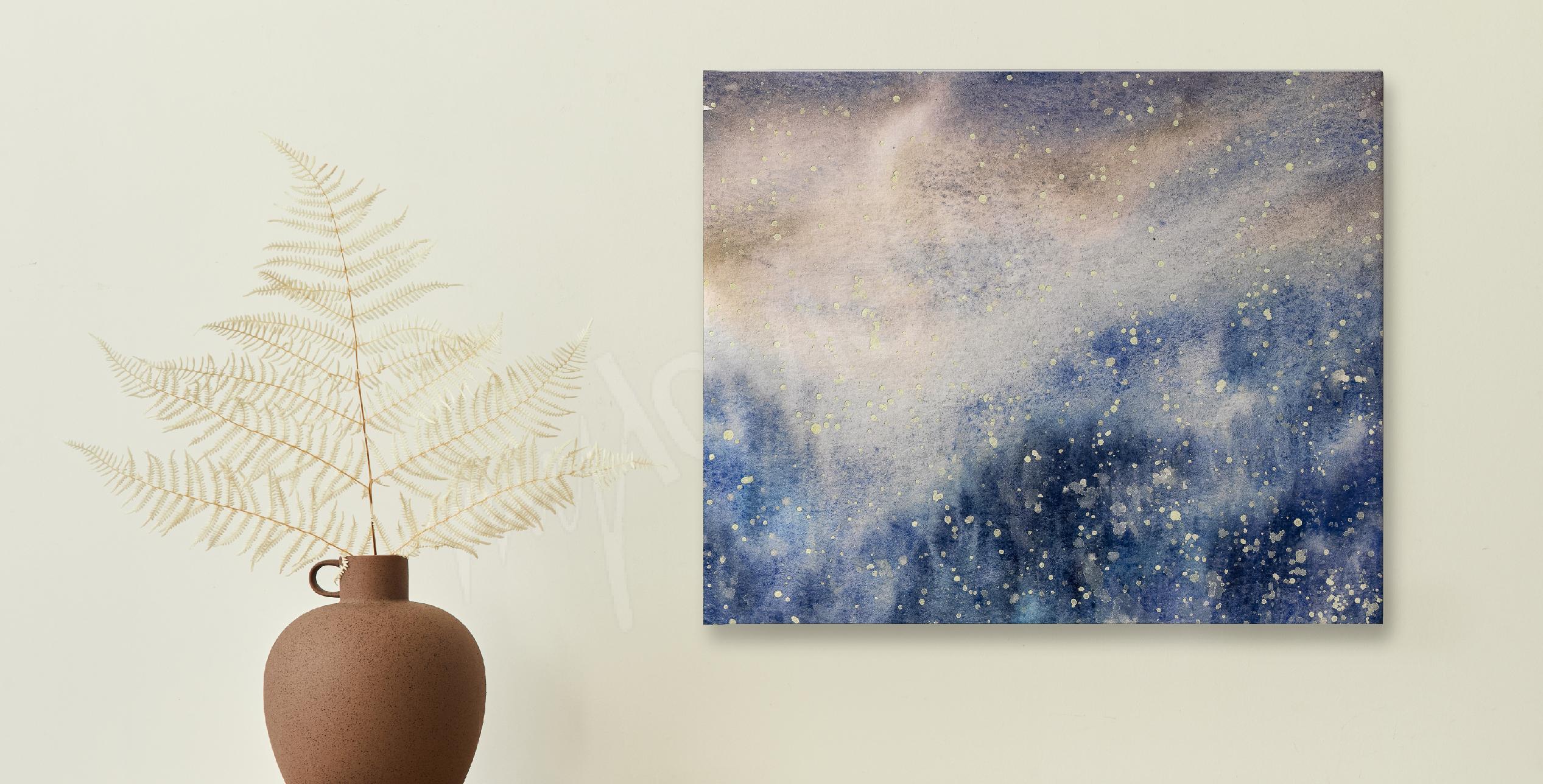 Bild Aquarell und Schnee-Textur