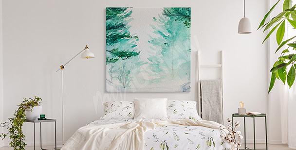 Bild Aquarell Wald