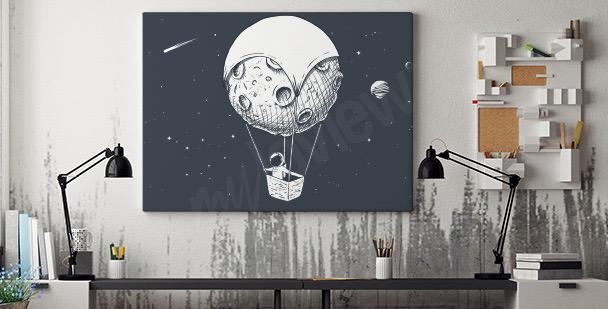 Bild Astronaut und Mond