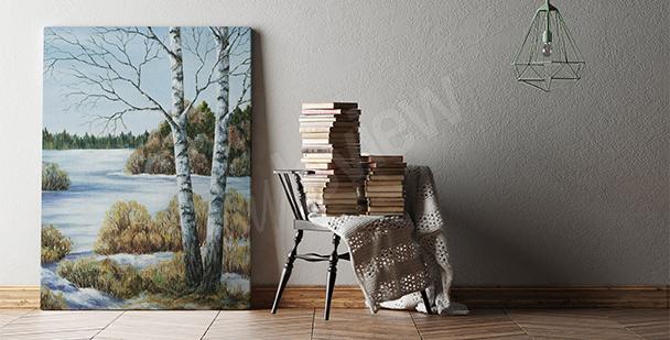 Bild Birken fürs Wohnzimmer