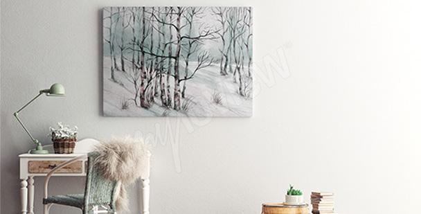 Bild Birken im Schnee