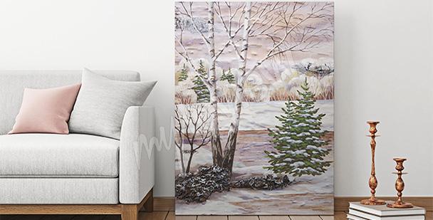Bild Birkenwald im Winter