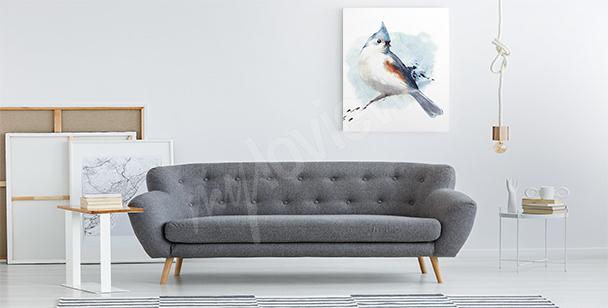 Bild blauer Vogel