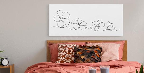 Bild schwarze Blumen