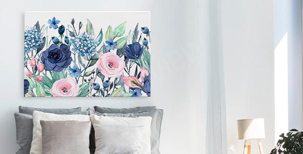Bild Blumen und Fensterblätter
