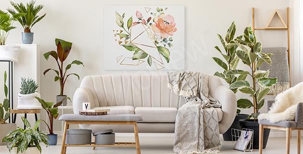Bild Blumen und Geometrie