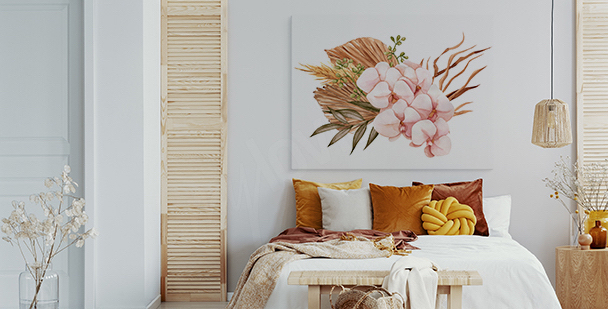 Bild weiß-rosa Orchidee