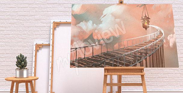Bild Brücke in den Wolken
