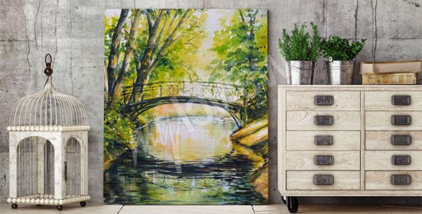 Bild Brücke inmitten von Bäumen