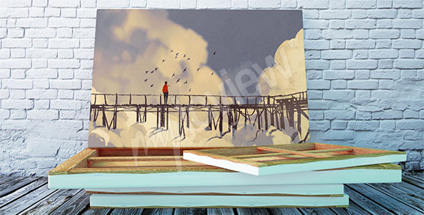 Bild Brücke - Malerei