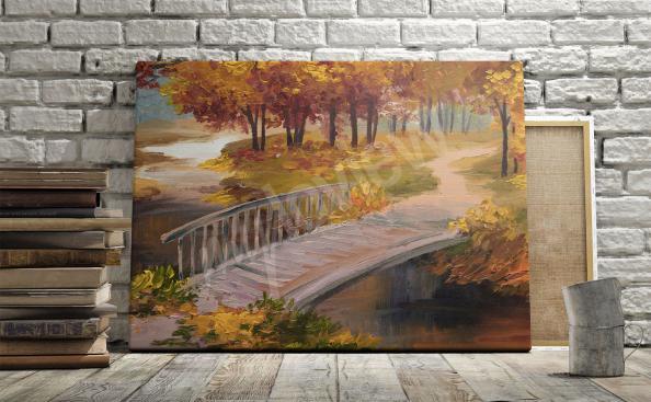 Bild Brücke - Öl-malerei