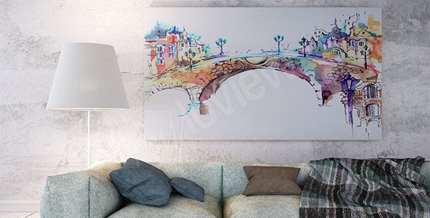 Bild bunte Brücke
