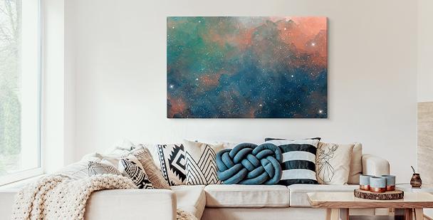 Bild bunte Galaxie