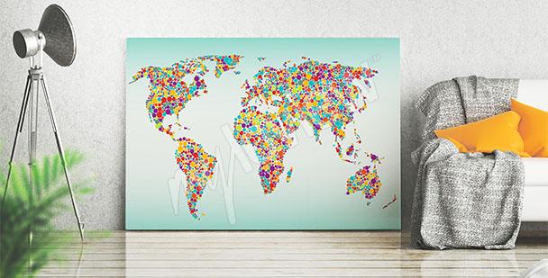 Bild bunte Weltkarte