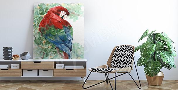 Bild bunter Papagei