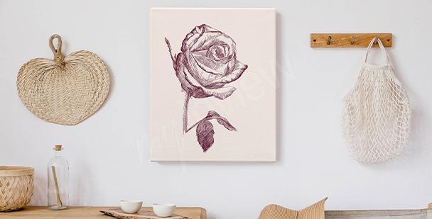 Bild romantischer Rosenstrauß
