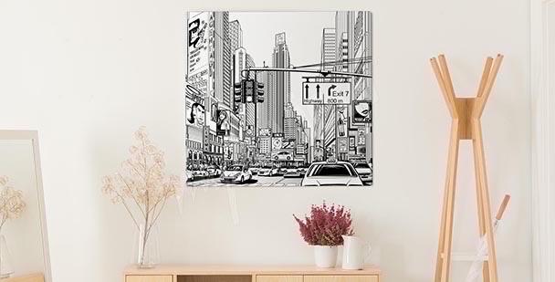 Bild Darstellung einer Großstadt