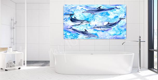 Bild Delfin fürs Badezimmer