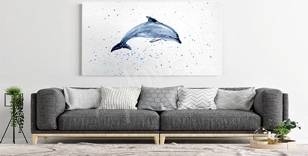 Bild Delfin fürs Wohnzimmer