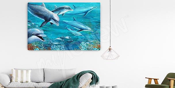 Bild Delfin im Meeresabgrund