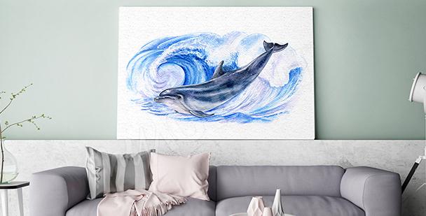 Bild Delfin in Meereswellen