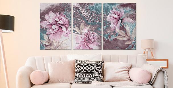 Bild floraler Stil - Triptychon