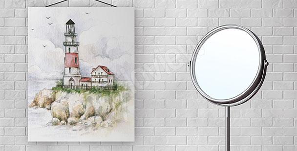 Bild für Bad mit Leuchtturm