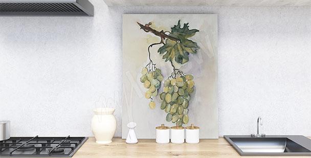 Bild für die Küche Weintraube