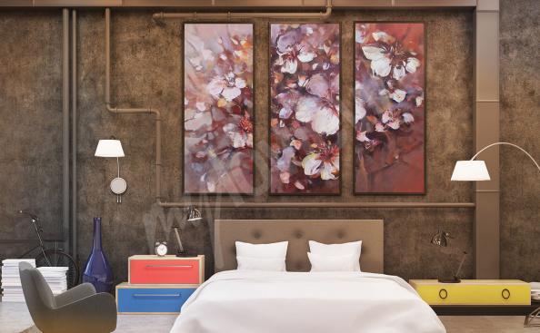 Bild für Schlafzimmer mit Blumen - Malerei