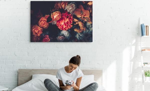 Bild für Schlafzimmer mit Vintage-Blumen