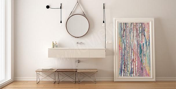 Bild fürs Badezimmer Abstraktion