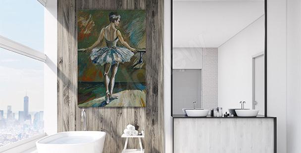 Bild fürs Badezimmer: Balletttänzerin