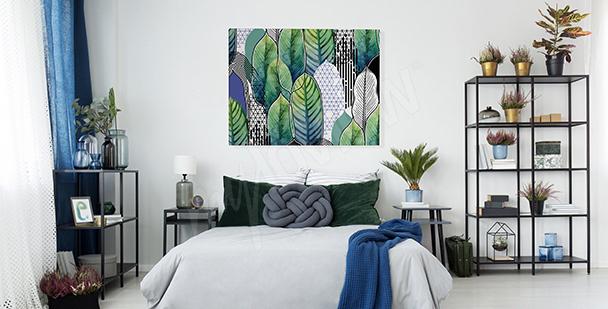 Bild fürs Schlafzimmer Blätter