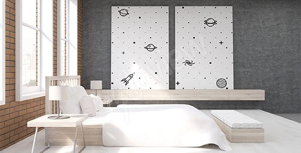 Bild fürs Schlafzimmer Minimal