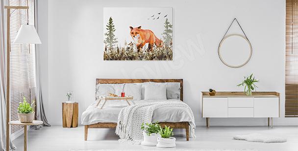 Bild fürs Schlafzimmer mit einem Fuchs