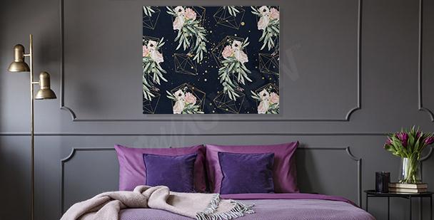 Bild fürs Schlafzimmer mit Geometrie
