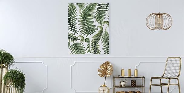 Bild fürs Wohnzimmer Farnblätter