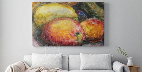 Bild fürs Wohnzimmer mit Obst