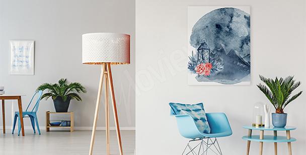 Bild für Wohnzimmer Blumen