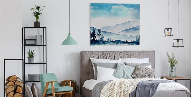Bild Gebirge fürs Schlafzimmer