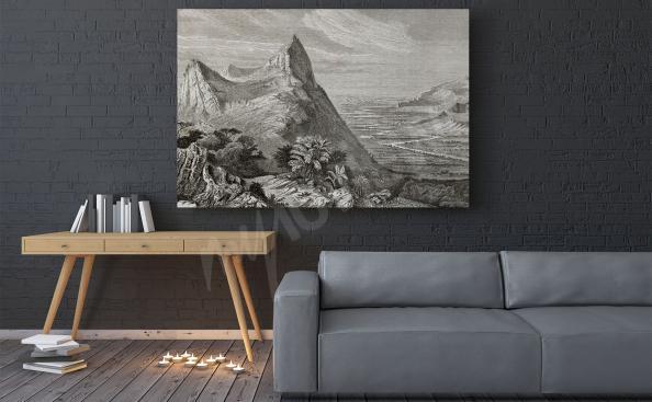 Bild Gebirge Schwarz-weiss