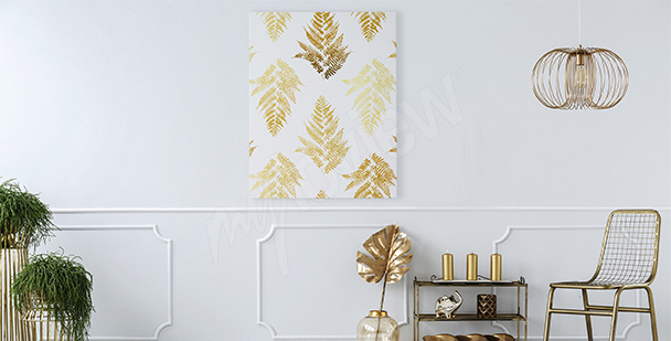 Bild Glamour-Stil: goldene Blätter