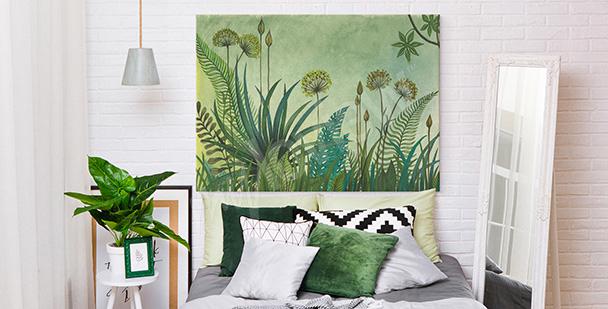 Bild Grün und Pusteblumen