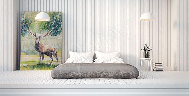 Bild Hirsch im Schlafzimmer