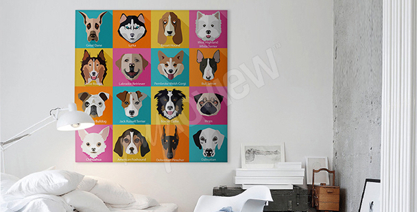 Bild Hund in Pop-Art-Stil