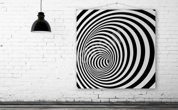 Bild Illusion 3d schwarz-weiss