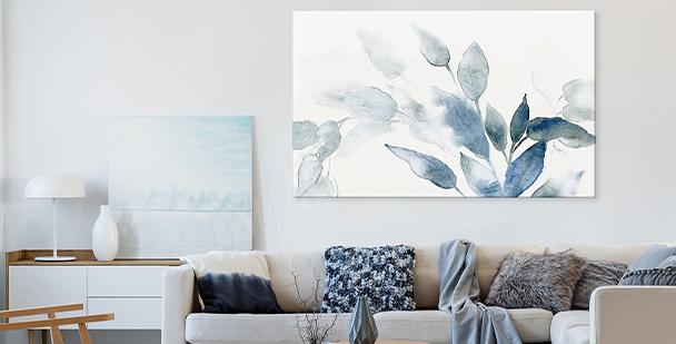 Bild im floralen Stil in Aquarell